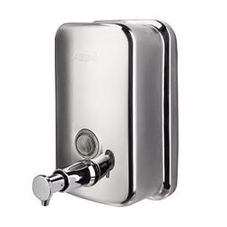 IMEEA 18/10 Stainless Steel Manual Wall-Mount Soap Dispenser