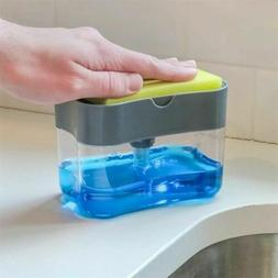 2-in-1  Soap Pump Dispenser ABS Sponge Holder Kitchen Dish S