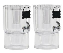 2 pk Daily Chef Unbreakable Stackable Beverage Dispenser Ser
