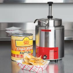 3.5 Qt. Electric Countertop Nacho Cheese Sauce Warmer Pump D