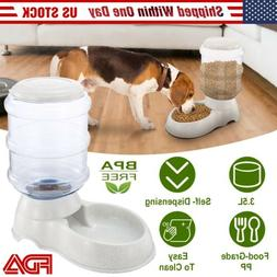 3.5L/1gal Automatic Cat Food Feeder Pet Dog Auto Gravity Dis