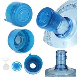 5PCS 55mm 3 & 5 Gallon Replacement Water Bottle Snap On Cap
