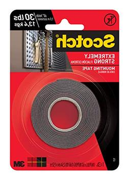 Scotch Extreme Mounting Tape, 1-inch X 60-inches, Black, 1-R