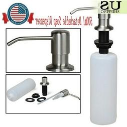 500ML Stainless Steel Soap Dispenser Polish Kitchen Liquid P