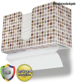 TrippNT 51339 Retro Dots Plastic Dual-Dispensing Paper Towel