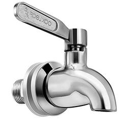 Beverage Dispenser Replacement Spigot,Oak Leaf Stainless Ste