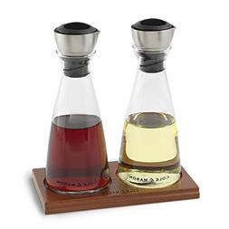 COLE & MASON Olive Oil & Vinegar Dispenser Set - Cruet Poure