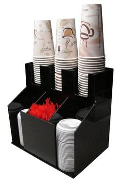 Cup and Lid Holder Dispenser Countertop Organizer 3wx2d Coff