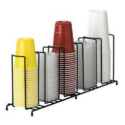 Dispense-Rite WR-5 Five Section Wire Rack Cup and Lid Organi