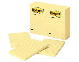 Wholesale CASE of 5 - 3M Post-it Lined Note Pads-Post-it Not