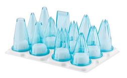 Matfer Bourgeat Assorted Polycarbonate Pastry Tips, Set of 1