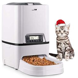 amzdeal Automatic Cat Feeder 6L Pet Feeder Dog Food Dispense
