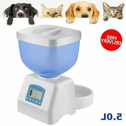 Automatic Pet Feeder Dog Cat Programmable Animal Food Bowl T