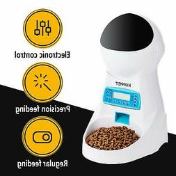 Automatic Pet Feeder Dogs Cats Food Dispenser 4 times Contro