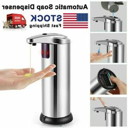 Automatic Soap Liquid Dispenser Stainless Steel Hand Free IR