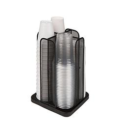 Mind Reader CDISPMESH-BLK Carousel Cup and Lid Organizer, 4