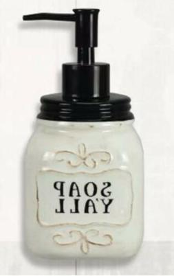 Ceramic Soap Dispenser, Rustic/Farmhouse