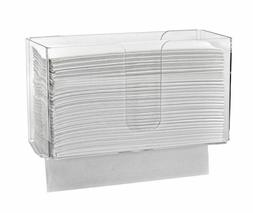 Alpine Industries Clear Wall Mounted Paper Towel Dispenser P