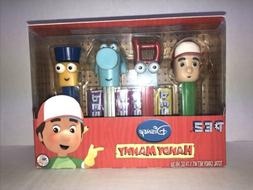 DISNEY'S HANDY MANNY PEZ Boxed Gift Set of 4 PEZ Dispensers