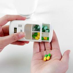 Dispenser Electric Pill Box With Alarm Timer Clock Reminder