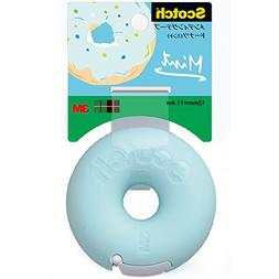1 X 3M Scotch Donut Tape Dispenser - Mint Blue - 12 mm X 11.