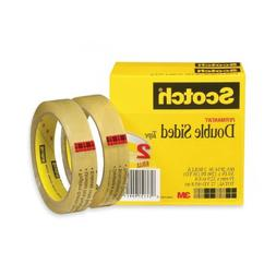 "Scotch Double Sided Tape, 3/4"" X 1296"", 3"" Core, Transparent"
