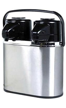 Coox 4L Double Twin 2 in 1 Air Pot Thermal Beverage Dispense