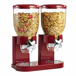 Dry Food Storage Double Cereal Dispenser Storage Container a