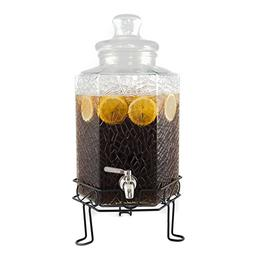 Redfern Elegant 2.5 Gallon Glass Beverage Dispenser with Sta