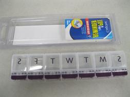 EXTRA LARGE 7-DAY PILL REMINDER DISPENSER~EASY TO OPEN~POP-U
