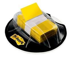 Post-it Flags, Yellow, 1-Inch wide, 200/Desk Grip Dispenser