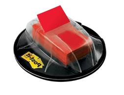 Post-it Flags Flags In Desk Grip Dispenser, 1 X 1 3/4, Red,