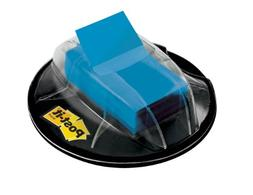 Post-it Flags Flags In Desk Grip Dispenser, 1 X 1 3/4, Blue,