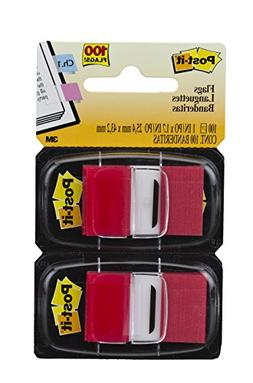 Post-it Flags Standard Tape Flags In Dispenser, Red, 100 Fla