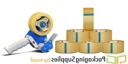 Free Dispenser with 12 Rolls Clear Packing Tape 1.75 Mil Thi