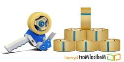 "Free Tape Dispenser with 12 Rolls 3"" x 110 yards 1.75 Mil Pa"