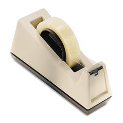 "** Heavy Duty Weighted Desktop Tape Dispenser, 3"" core, Plas"