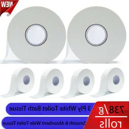 Jumbo Commercial Roll Toilet Paper Large Tissue 3Ply Bathroo