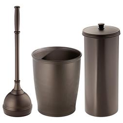 InterDesign Kent Bathware Toilet Plunger and Holder for Bath