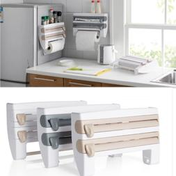 Kitchen Wall-Mounted Paper Towel Holder Cling Film Tinfoil T
