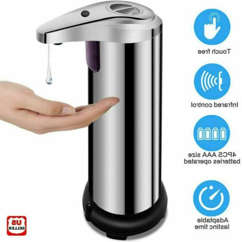 250ml stainless auto handsfree sensor touchless soap