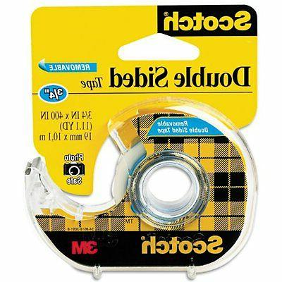 "667 Double-Sided Removable Office Tape and Dispenser, 3/4"" x"
