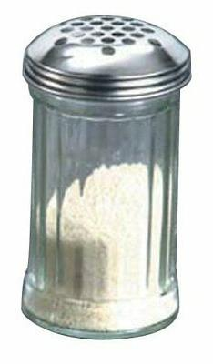 American Metalcraft  12 oz Glass Cheese Shaker w/Extra Large
