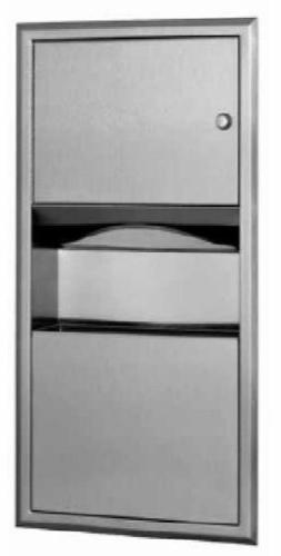 Bobrick 369 ClassicSeries 304 Stainless Steel Recessed Paper