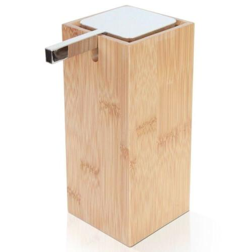 bamboo wood modern soap lotion liquid pump