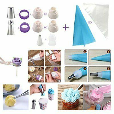 Cake Piping Tips Icing Dispensers Decorating Supplies Kit