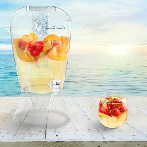 2 Gallon Shatter Proof, Stand, for Bowl Fruit by Classic