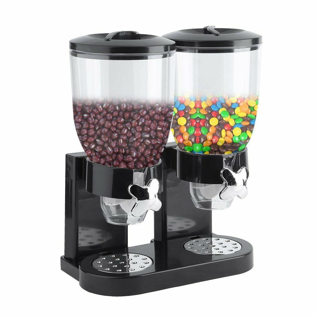 Dual Dry Cereal Candy Chrome Canister BEST
