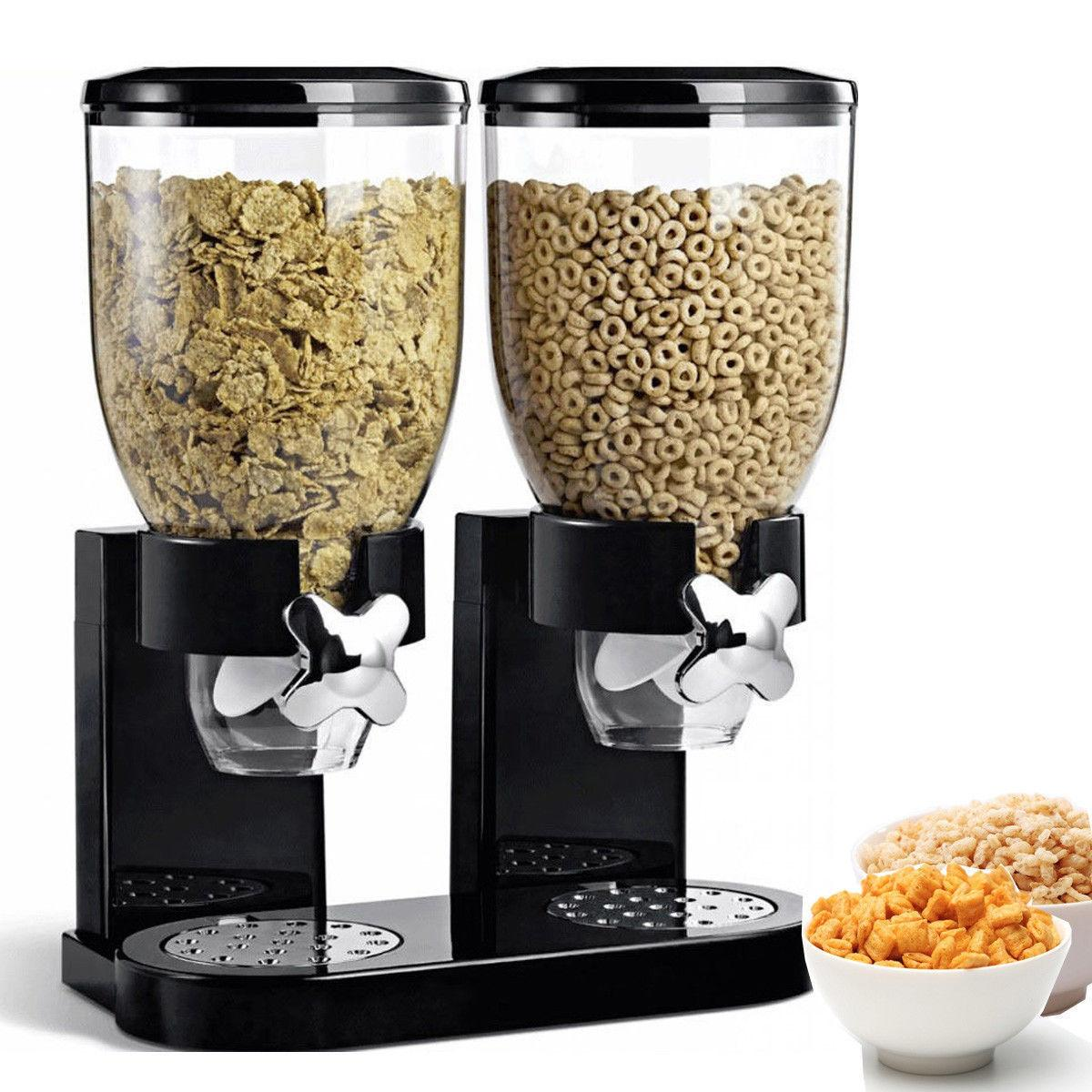 dual dry food nut cereal candy dispenser