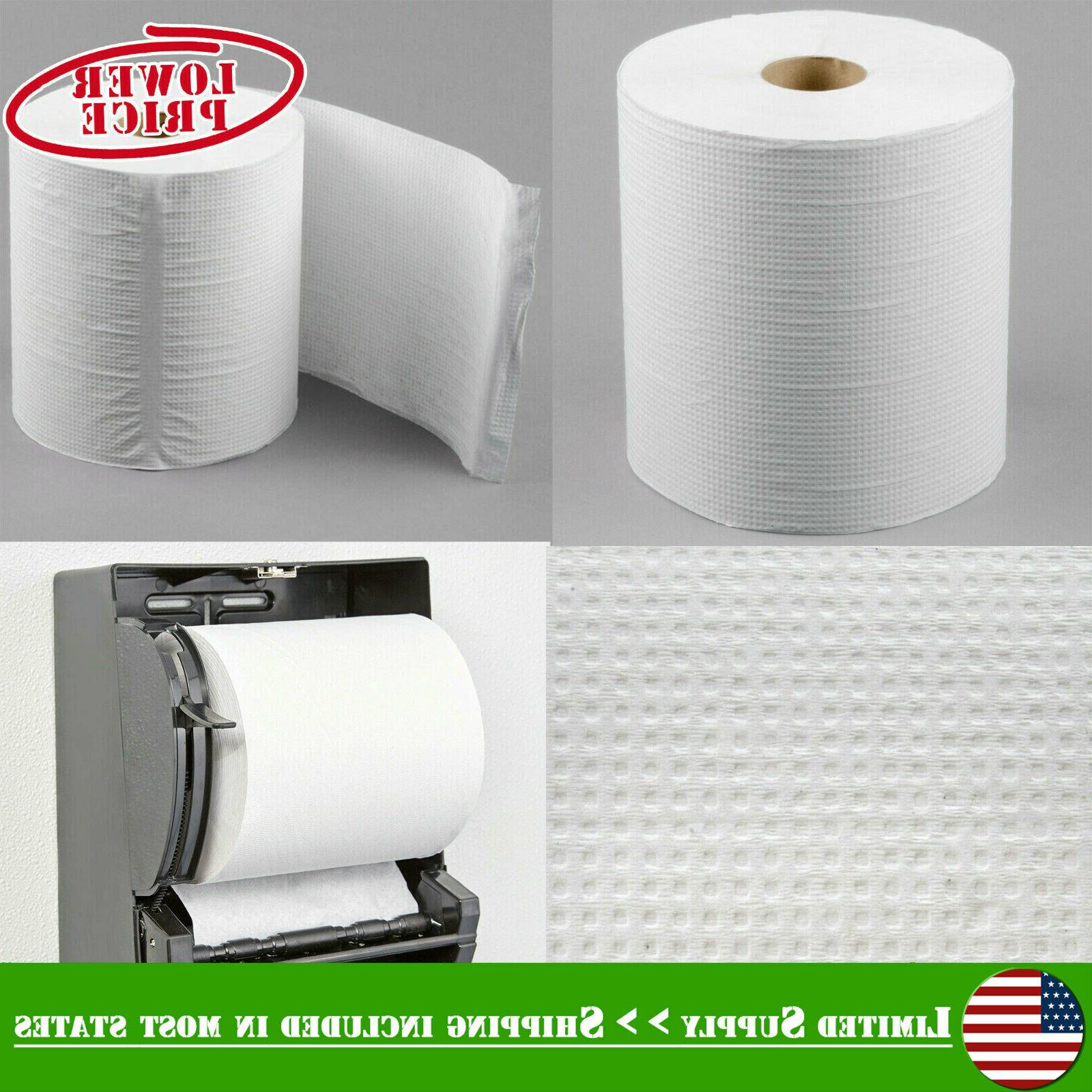 """Morcon Paper Hardwound Roll Towels 7 9/10"""" x 800ft White 6 R"""